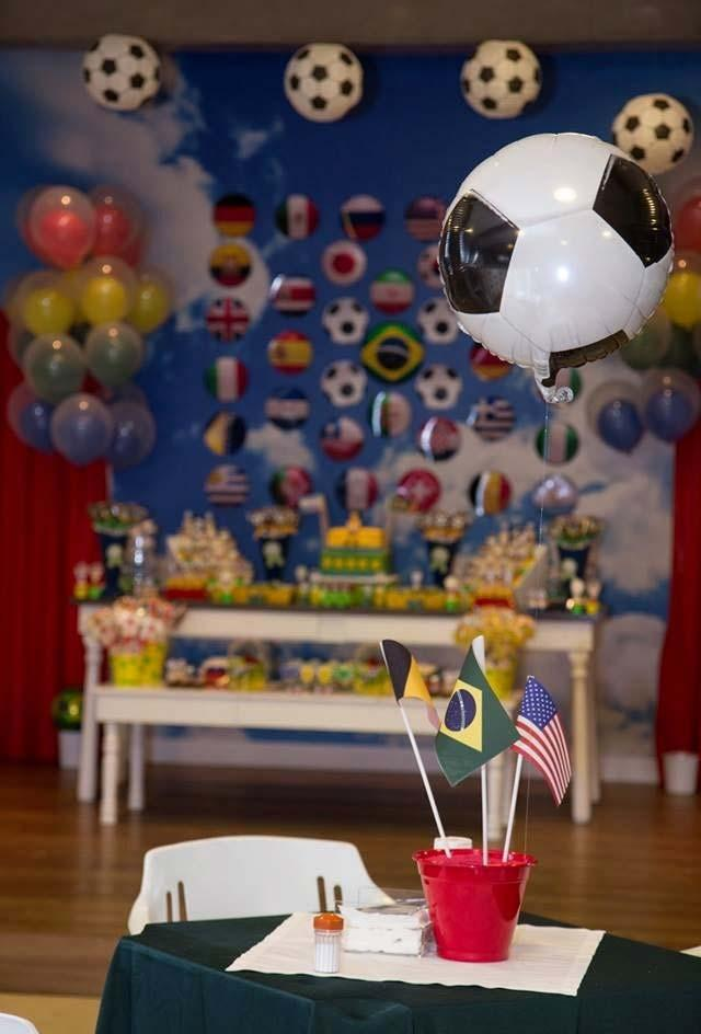 Children's football party for world cup