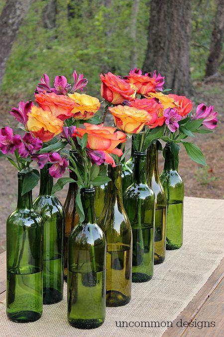 Table Top with Bottle: see beautiful ideas to decorate the table 35