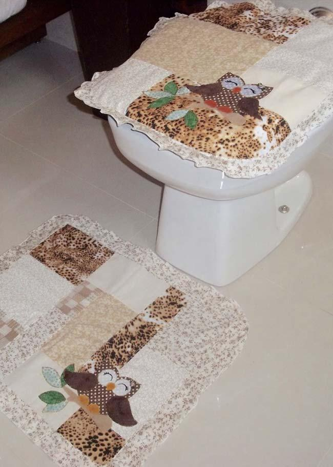 Set of two pieces owl bathroom set