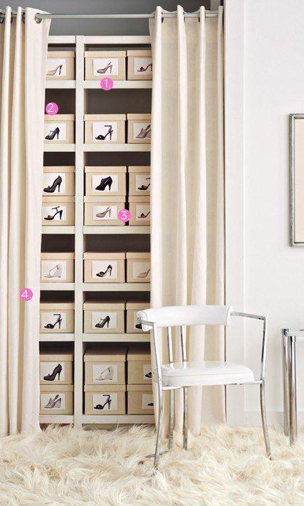 60 ideas and tips on how to organize shoes
