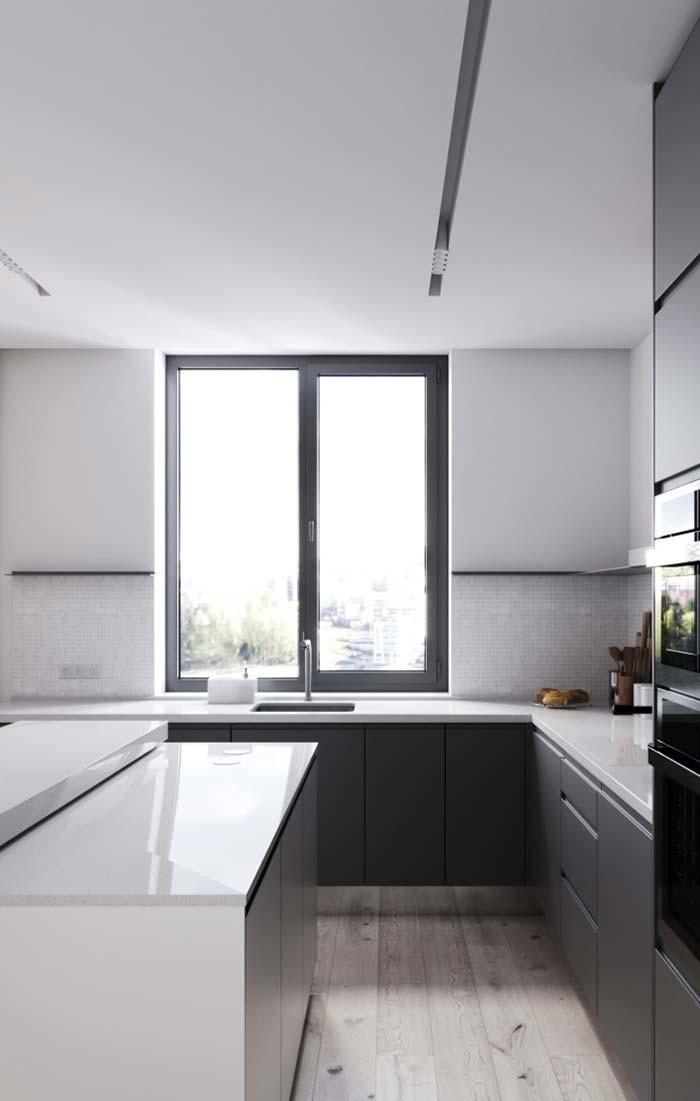 Modern kitchen with plasterboard lowering