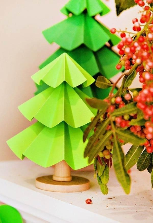 Handcrafted Christmas tree: 65 inspirations and ideas for your production 7