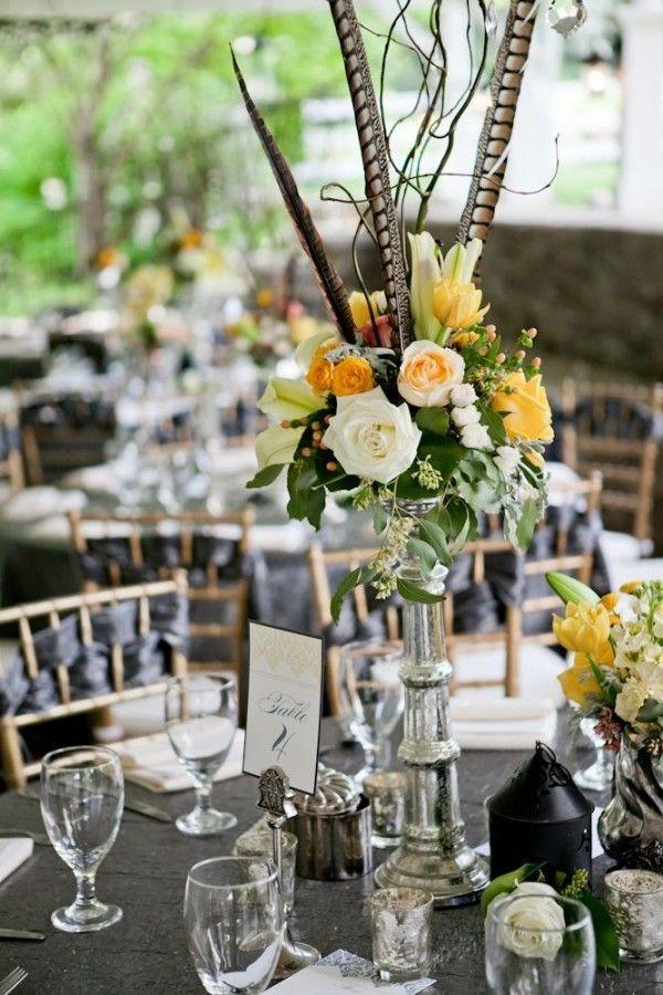 Wedding arrangements: 70 ideas for table, flowers and decoration 16