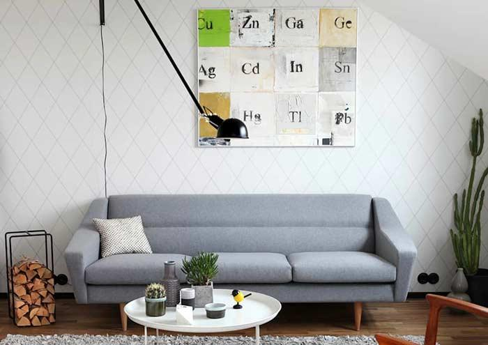 Decorative frame inspired by the periodic table