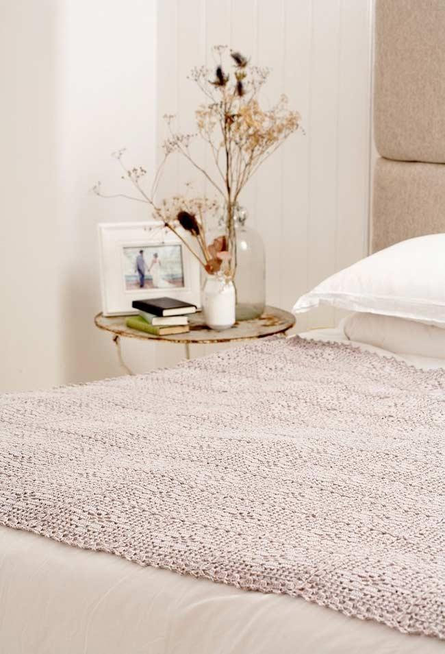 Half crochet quilt to decorate the bed