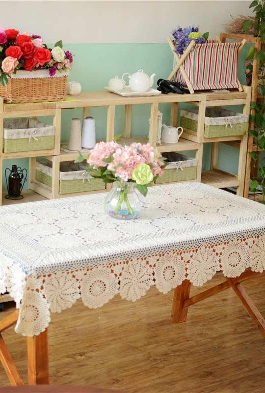 Crochet towel: ideas to add table decoration 7
