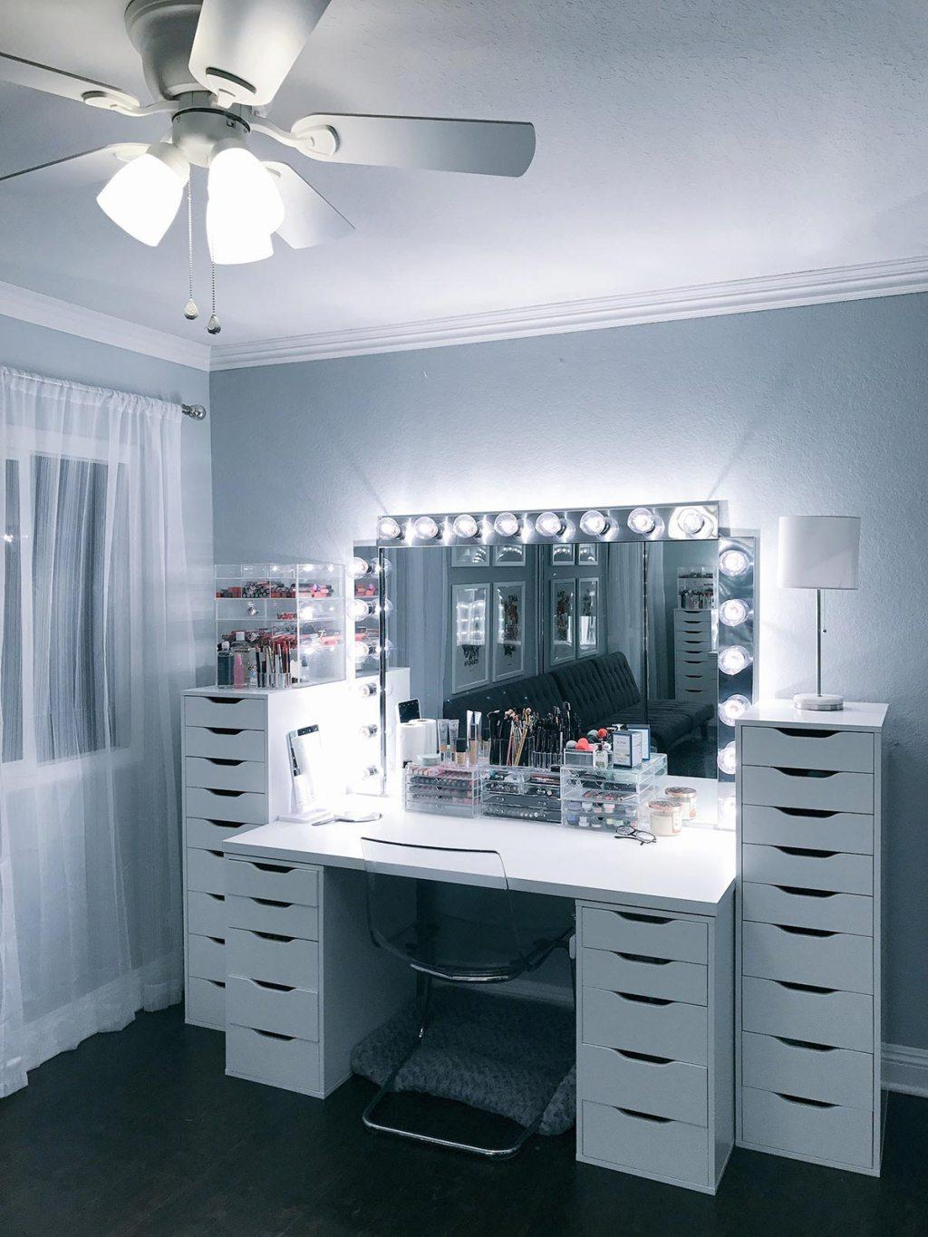 Makeup table: 60 ideas to decorate and organize 11