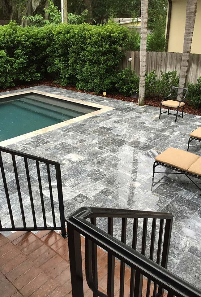 Granite Pool Floor