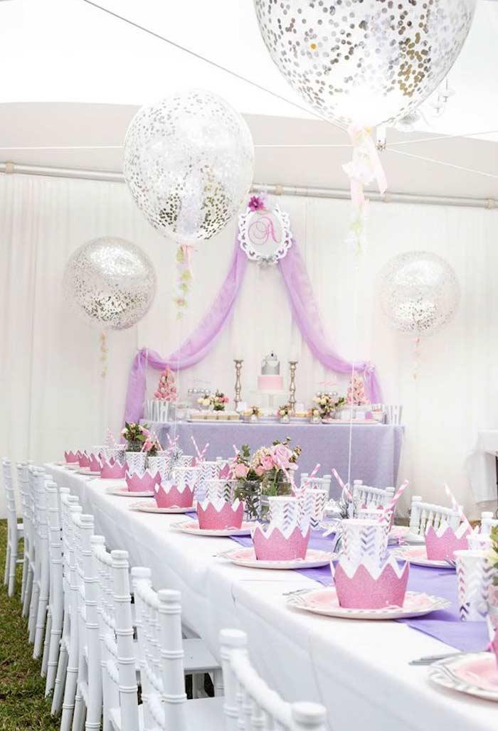Princess party in a wide setting