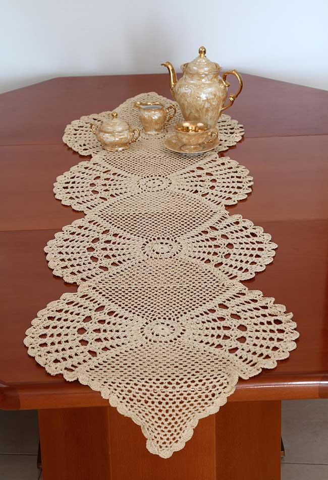 Traditional piece with string carpet