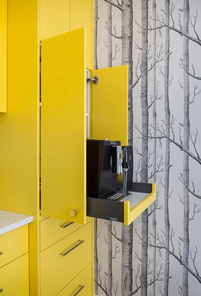 Totally vibrant yellow cabinet