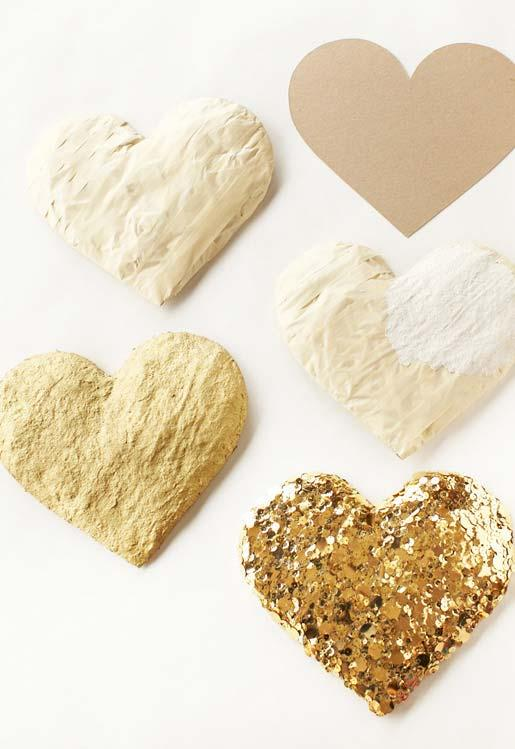 Decorate your wedding with paper make hearts