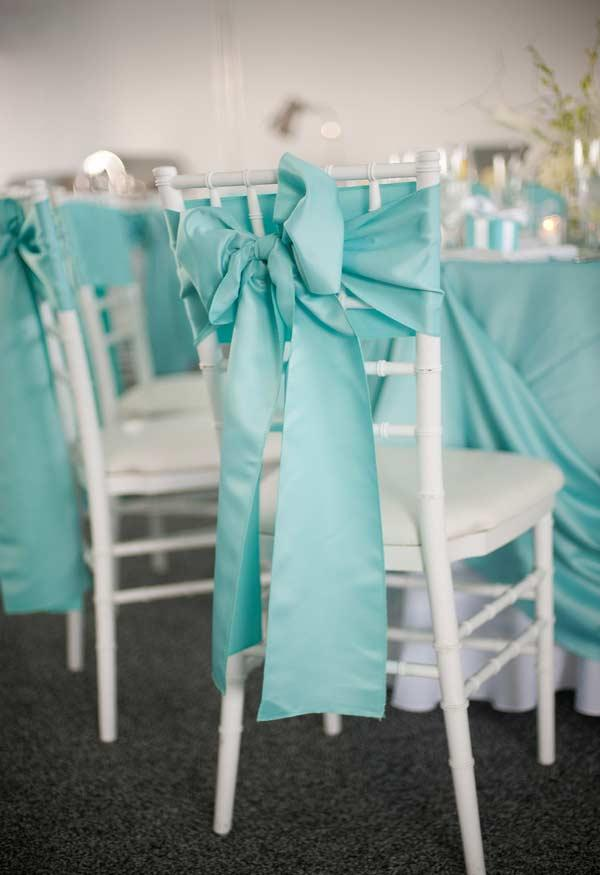 Tiffany blue color on party fabrics