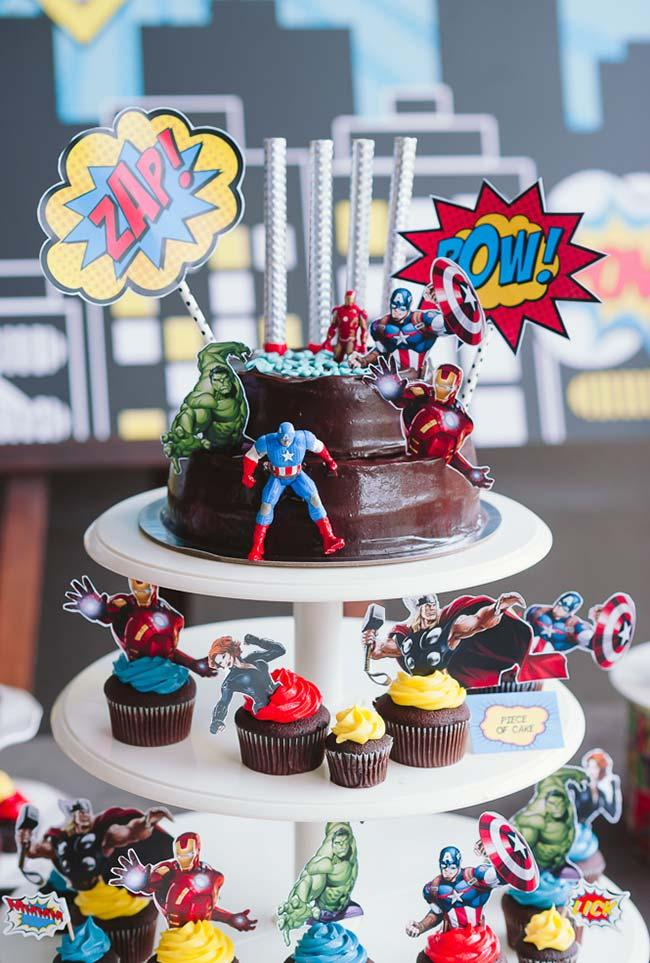 Cake toppers for Avengers party