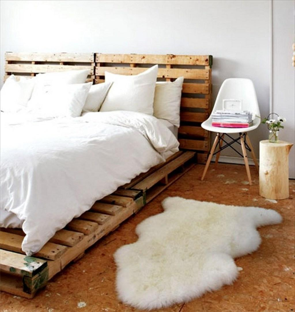 Pallet bed: 60 models, photos and walkthroughs 1
