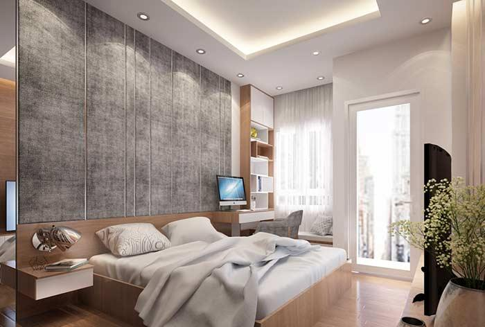 Gypsum ceiling for bedroom