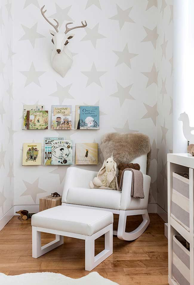 Breastfeeding armchair with swing and puff