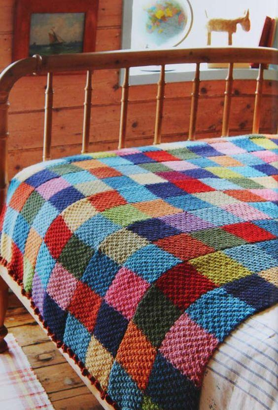 Crochet quilt: ideas with photos and easy step-by-step 4