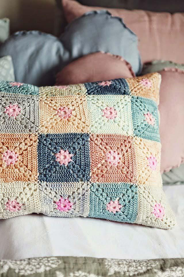 Cover with crochet squares