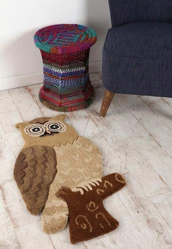 Colorful Owls Carpet