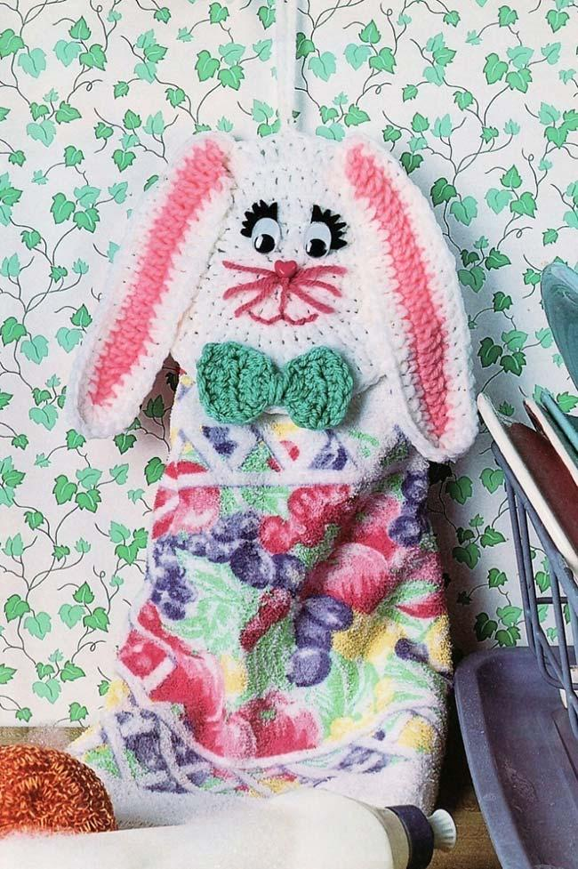 Crochet Bunny Dish Cloth Holder