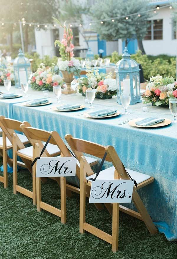 Blue Tiffany as the main color of the wedding