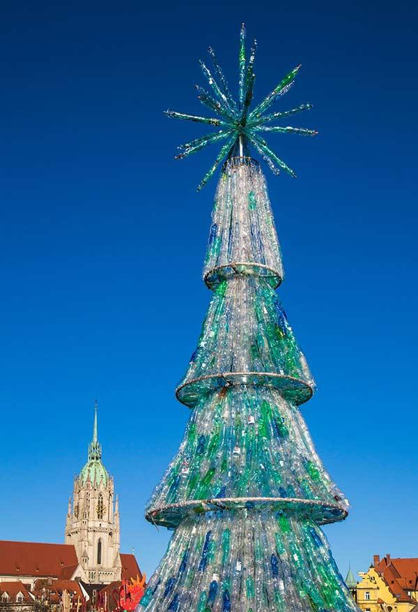 Any plastic bottle can be used to make a large tree.