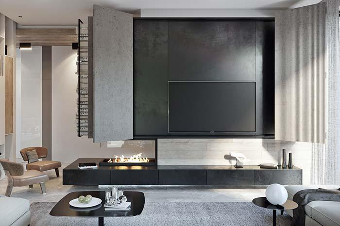 Modern decoration: black slate is much cheaper than marble or granite