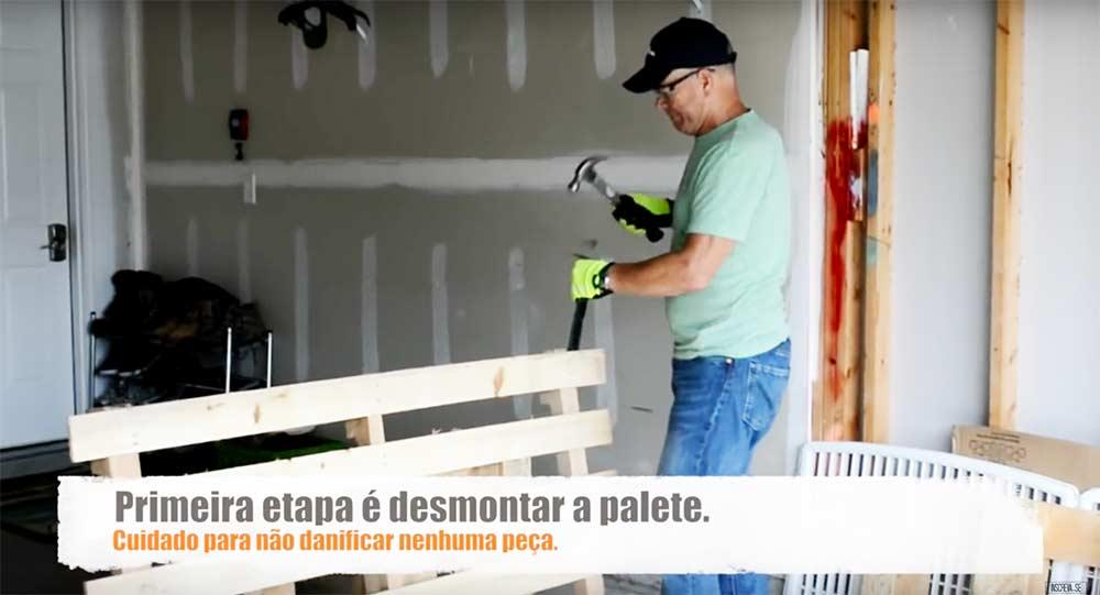 Step 3 - Disassembly of pallets