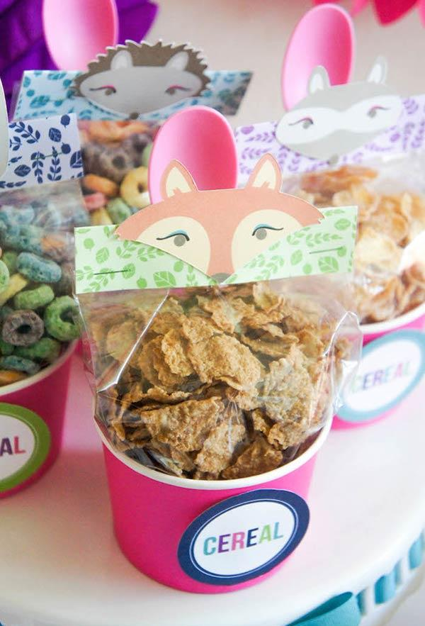 Packing details with cereals