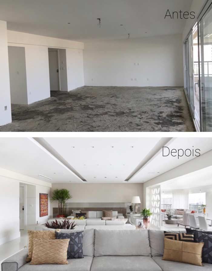 Before and after plaster ceiling
