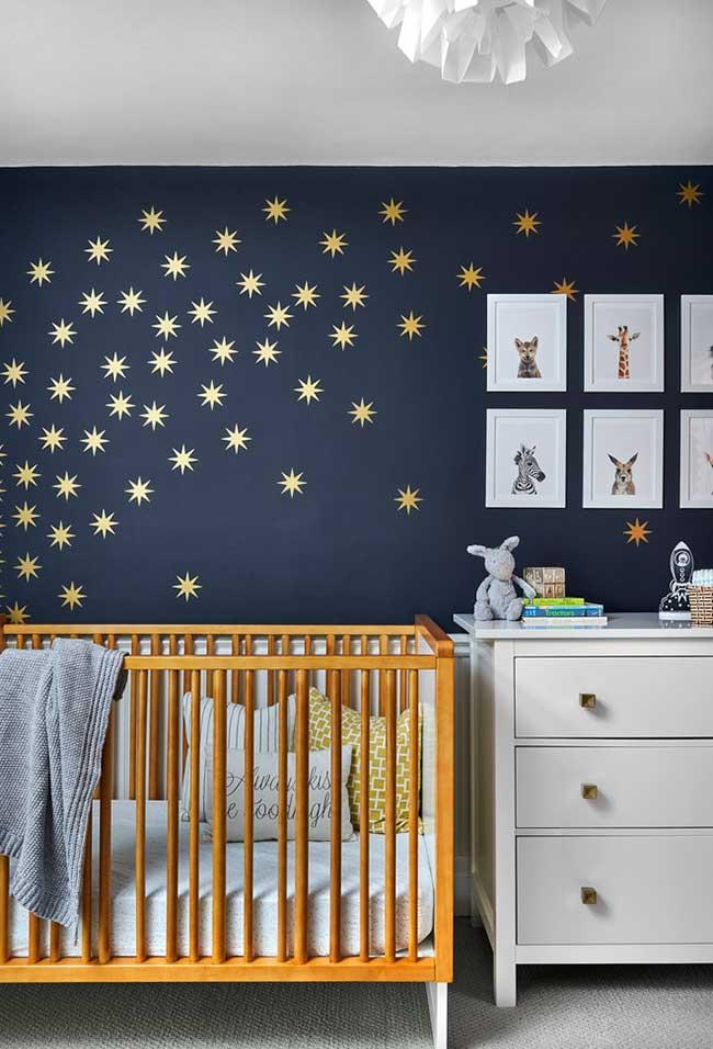 A sky of stars in the baby's room