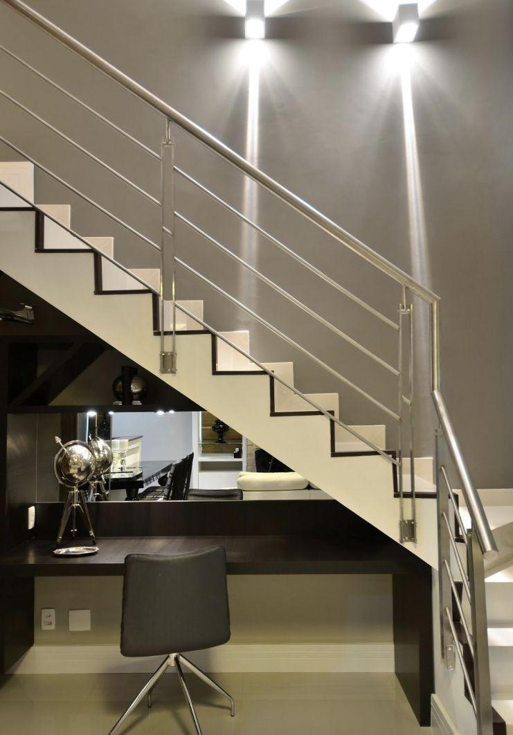 Stainless steel handrail: see tips and 60 models with photos 39