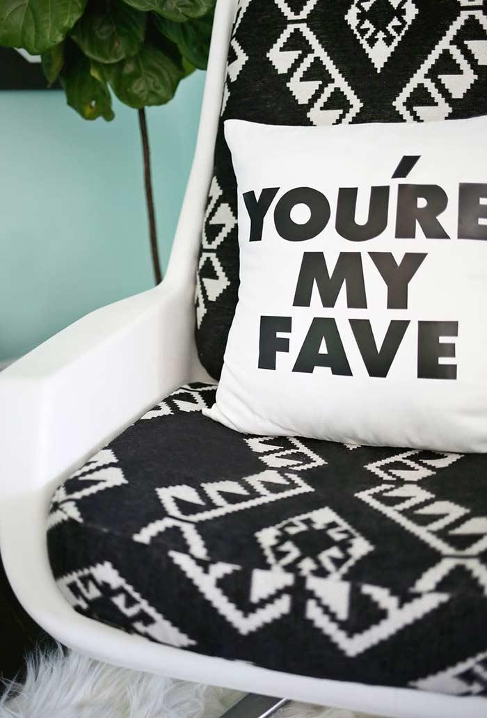 Simple pillows with phrases of your choice