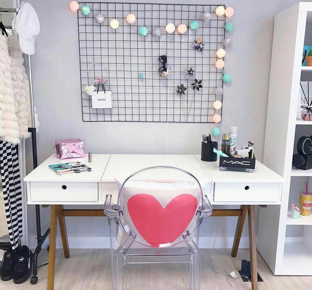 Makeup table: 60 ideas to decorate and organize 20