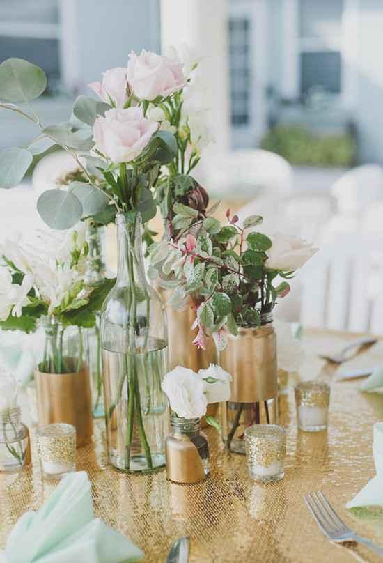 Golden wedding decoration: 60 ideas with photos to inspire 13