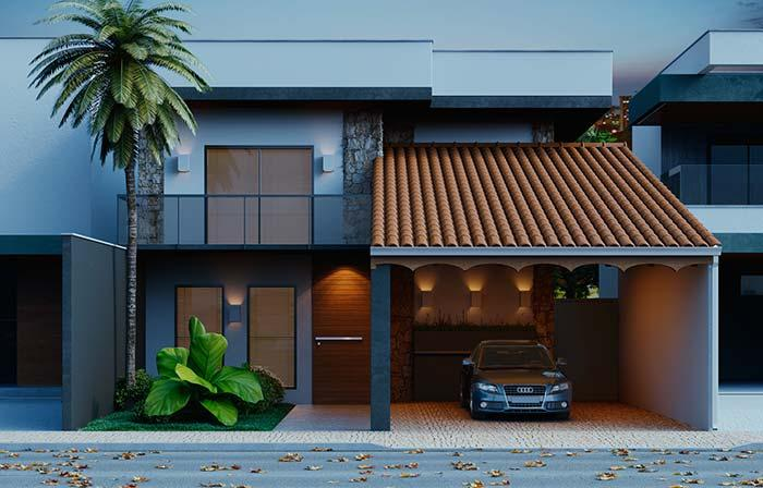 Modern style house with ceramic tiles