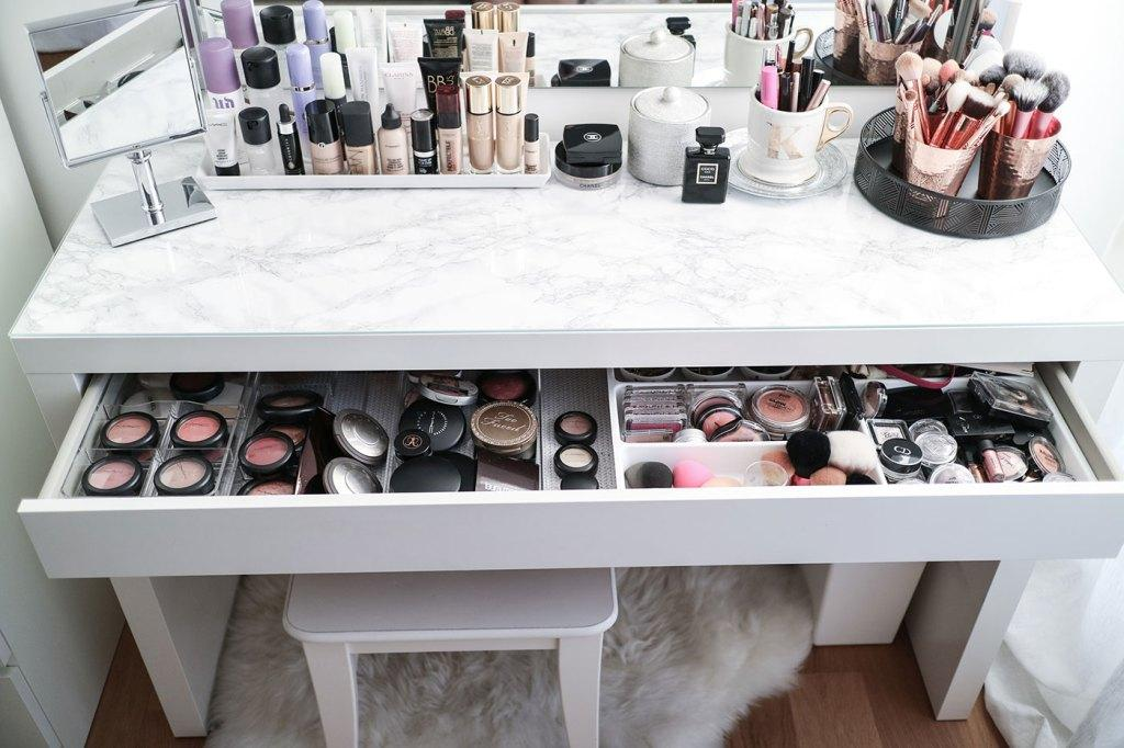 Makeup table: 60 ideas to decorate and organize 54
