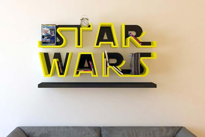 Creative idea: shelf star wars