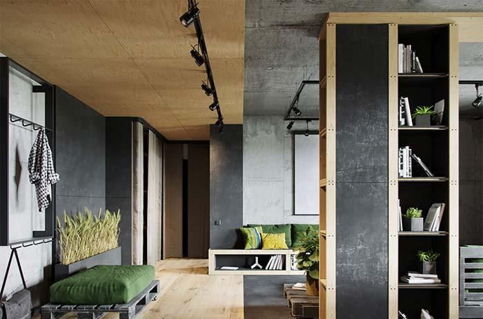 Wooden boards for an industrial urban style environment