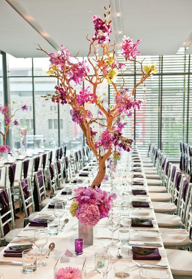 Wedding arrangements: 70 ideas for table, flowers and decoration 30