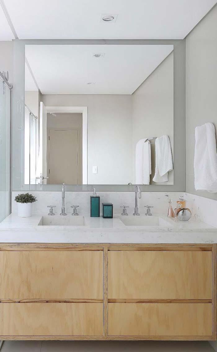 Countertop with double tub in Piguês marble