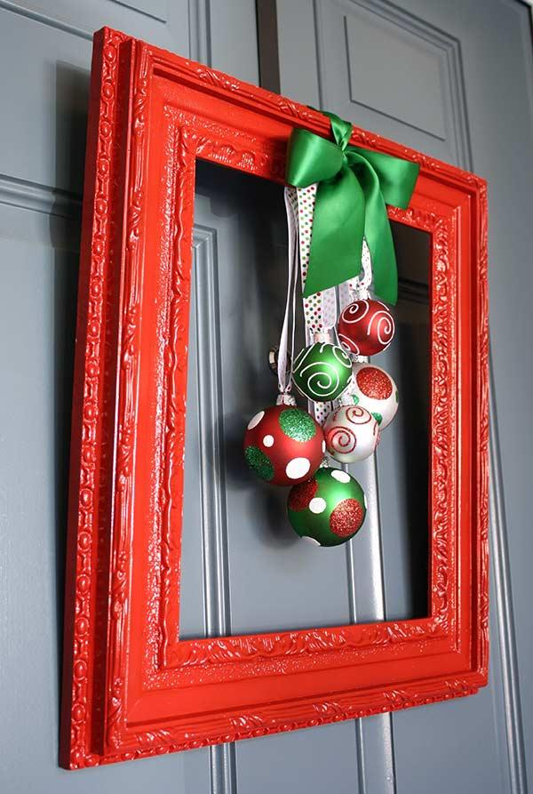 Christmas Ornament with Frame and Polka Dots