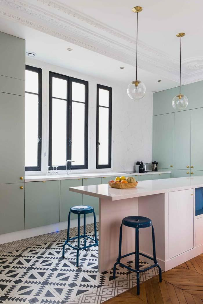 Green pastel like the new darling of the kitchens