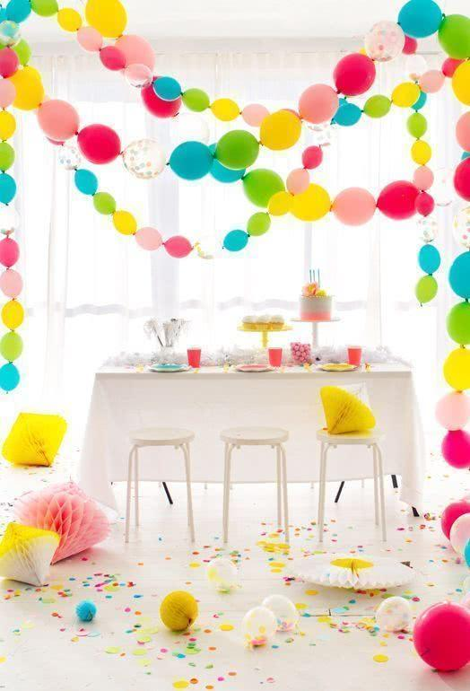 Decoration with balloons: 85 inspirations to decorate 26