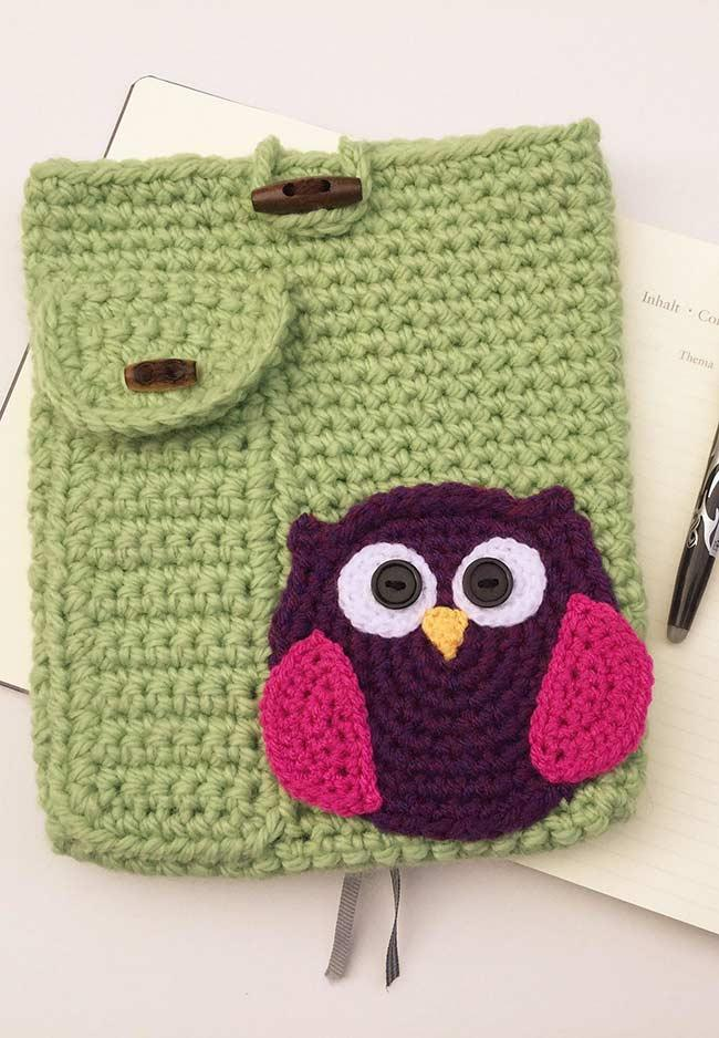 Application of crocheted owl