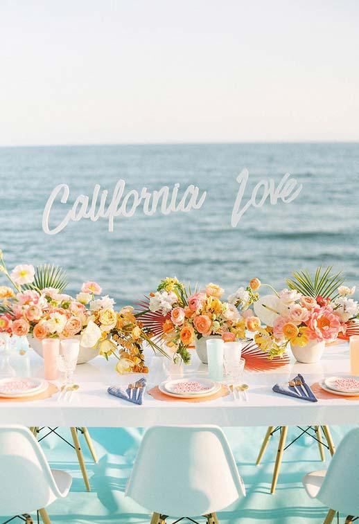 Mini wedding with coastal decoration