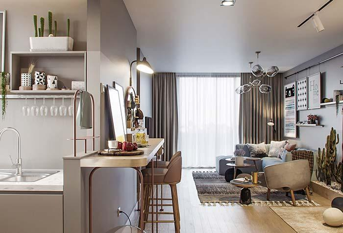 Small environments in decorated apartment decor