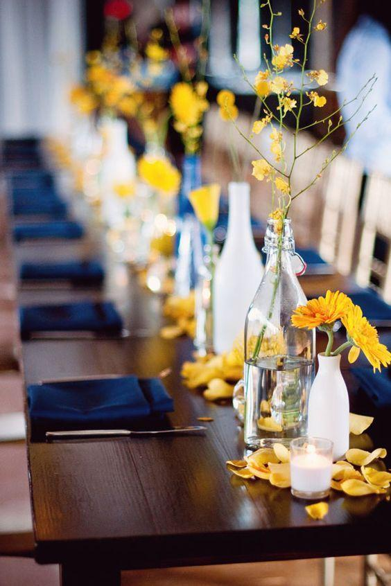 Table Top with Bottle: see beautiful ideas to decorate the table 11