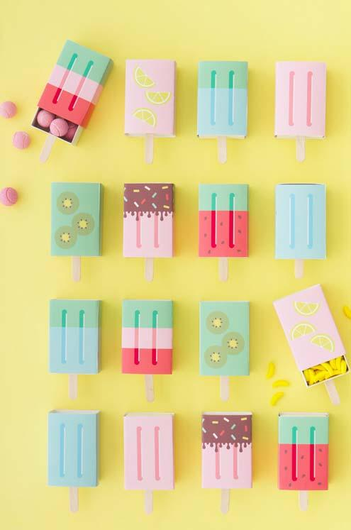 Popsicles shaped like popsicles as souvenirs for 15 years